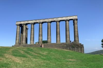 The National Monument on Calton Hill in Edinburgh