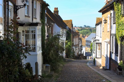 One of the pretty streets in Rye, Sussex