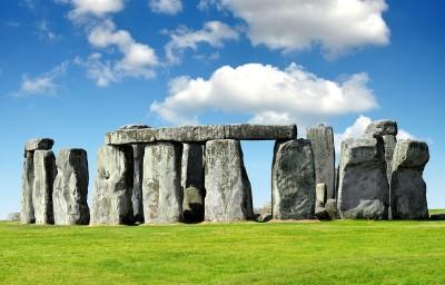 The standing stones at Stonehenge