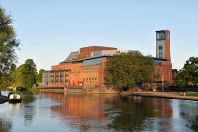 The RSC theatre in Stratford alongside the river