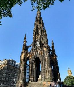 The Scott Monument in Princes Street Gardens in Edinburgh