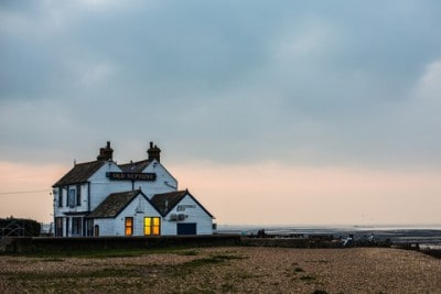 The Old Neptune pub on the beach in Whitstable