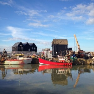 The harbour in Whitstable - a visit here is one of the things to do in Whitstable